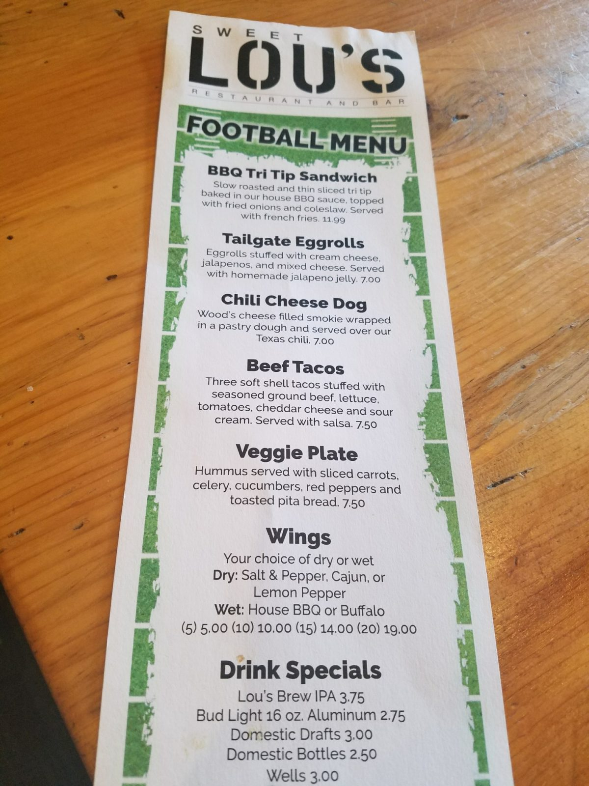Monday Night Football is HERE! | Sweet Lou\'s